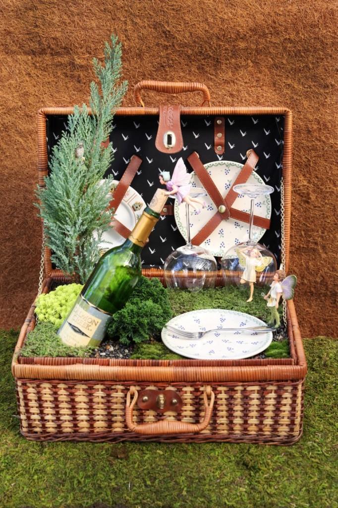 Fairy Garden Picnic Basket