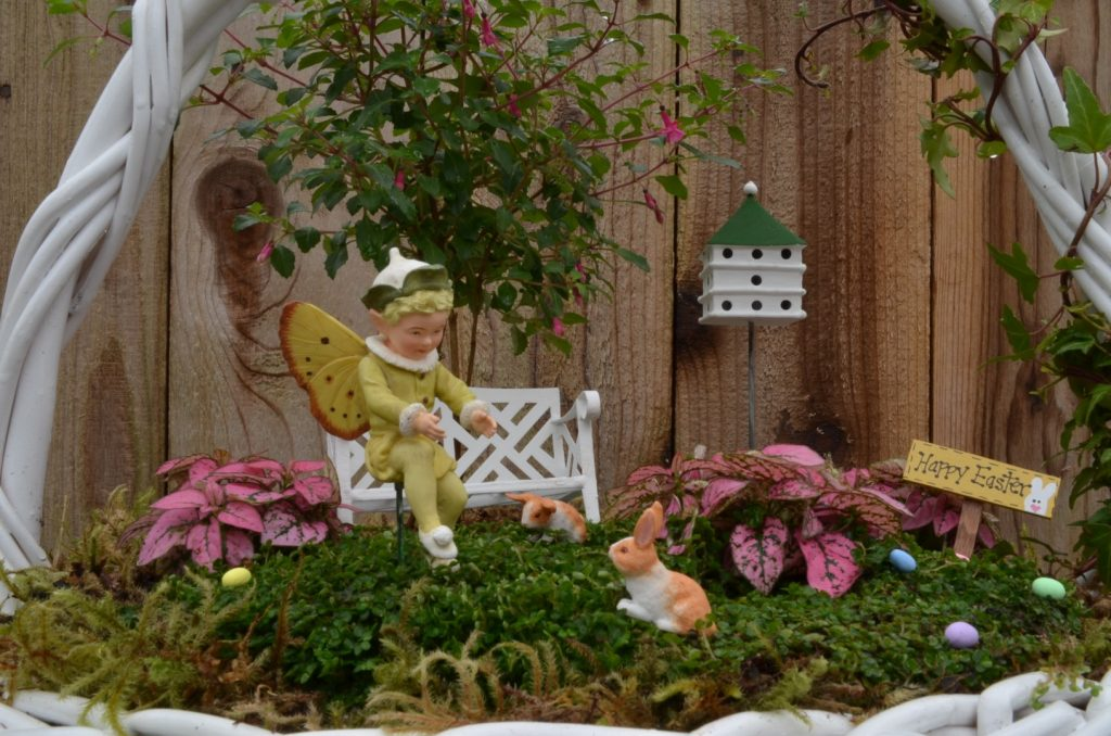 how to make an easter fairy garden