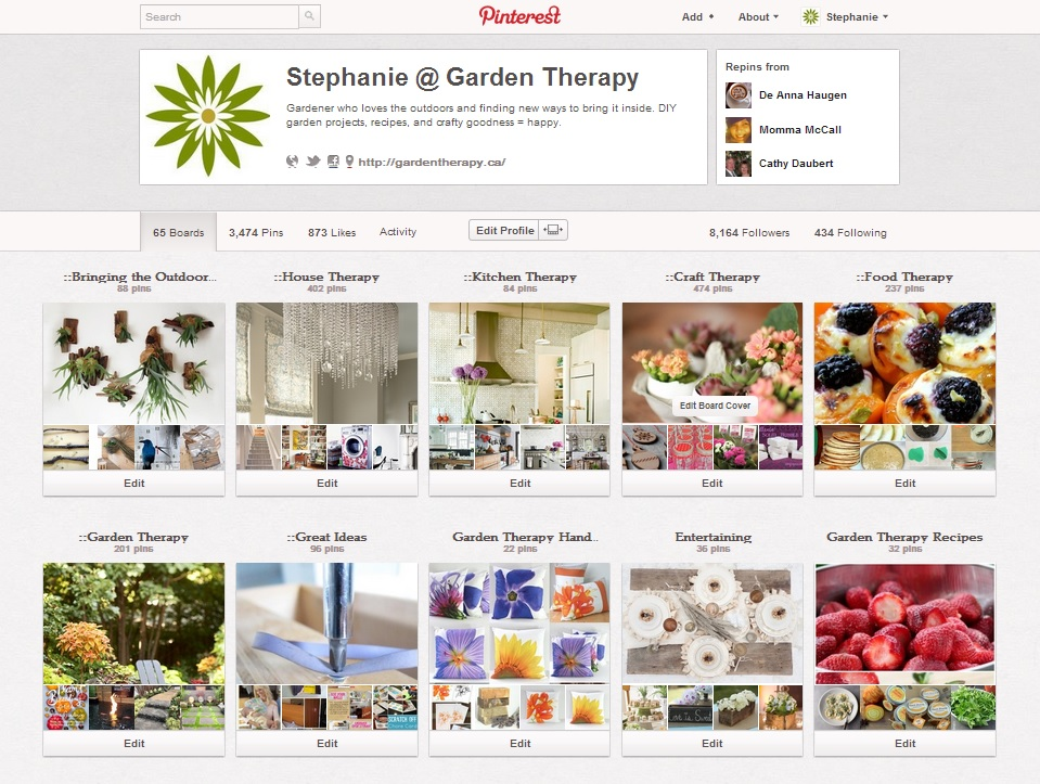 Garden Therapy on Pinterest