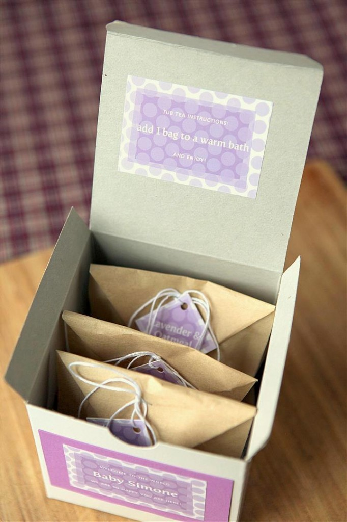 Bath Tea Bags in a gift box