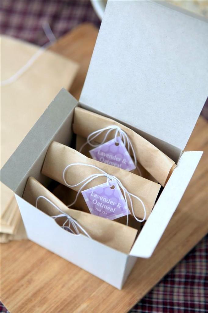 Box of bath teas