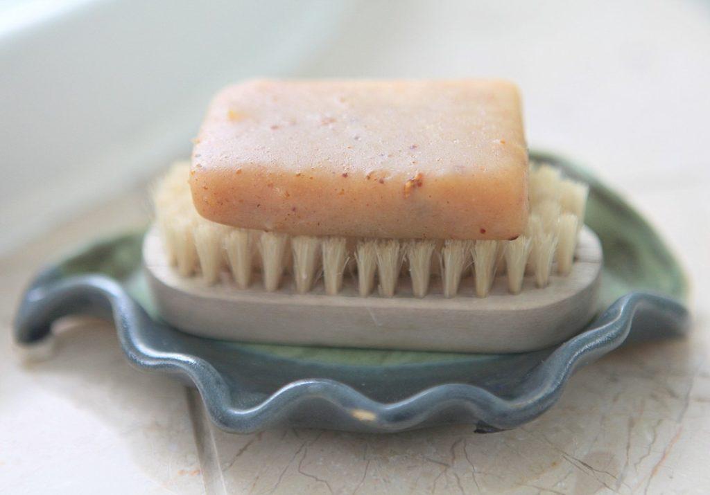 Handmade Soap and Nail Brush