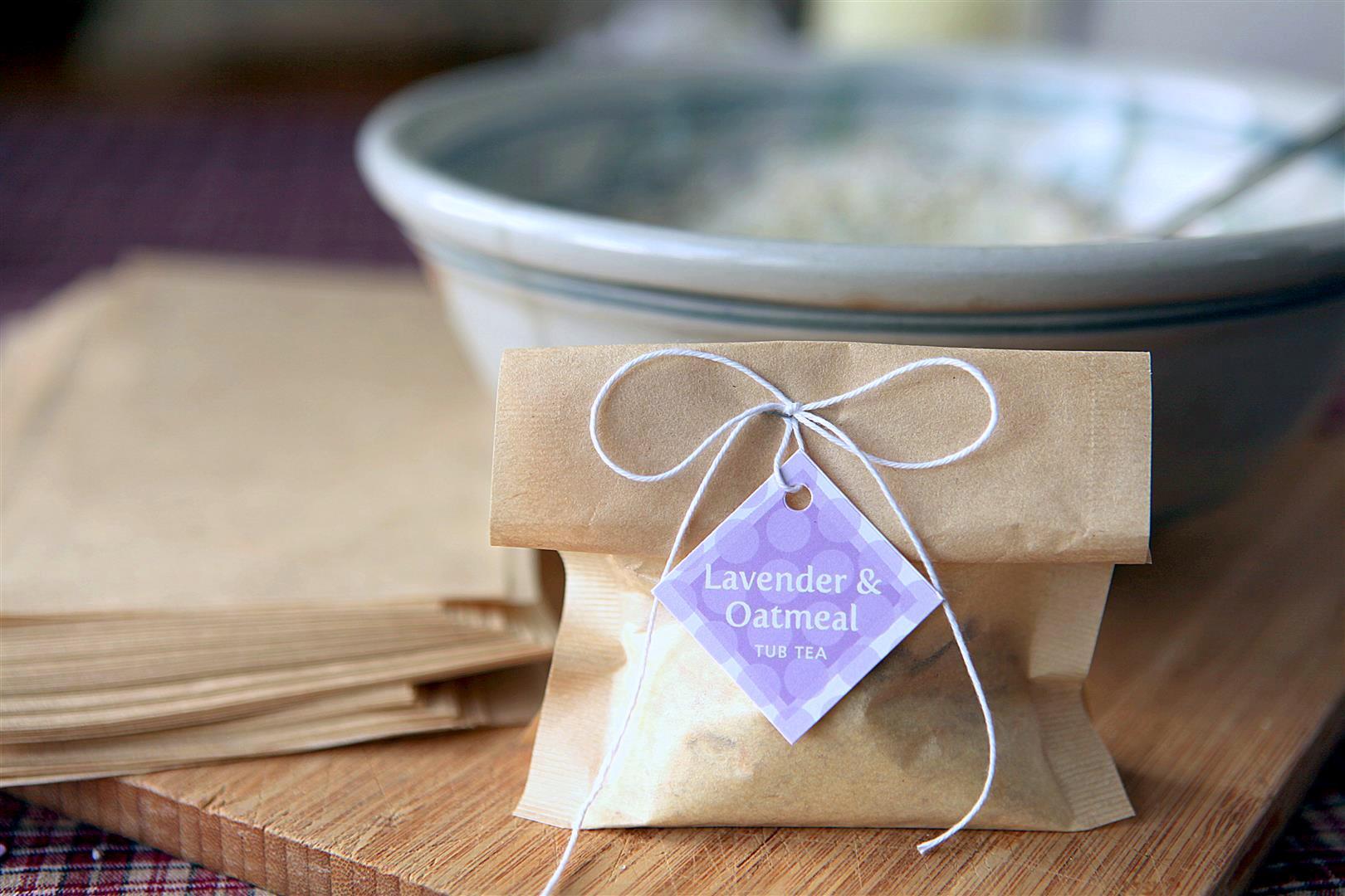 Lavender Oatmeal Tub Tea