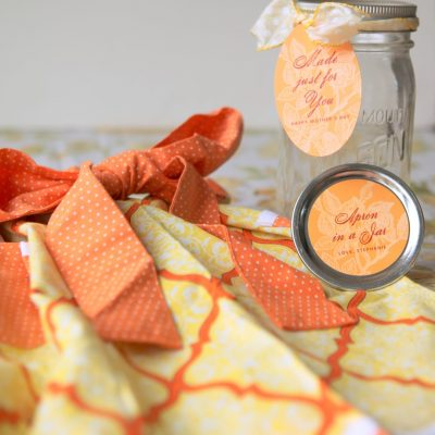Apron in a Jar for Mother's Day