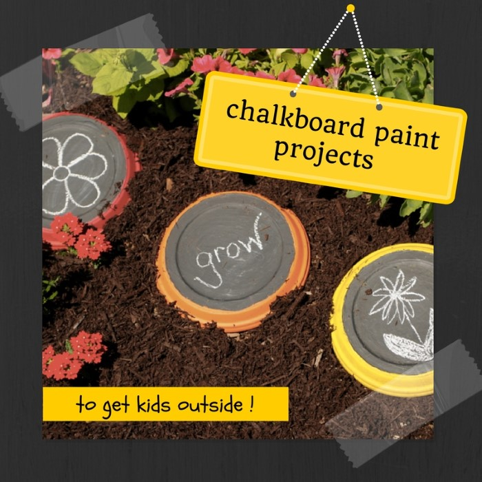 chalkboard paint project ideas to get kids outside and in the garden