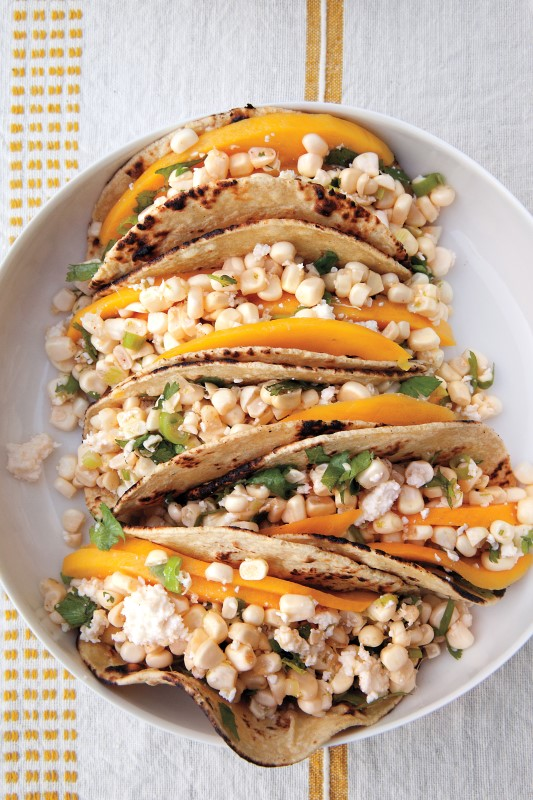 Cotija And Corn Tacos With Lime And Mango Photography By Katherine Wolkoff. Courtesy Of Martha Stewart Living © 2013 Custom