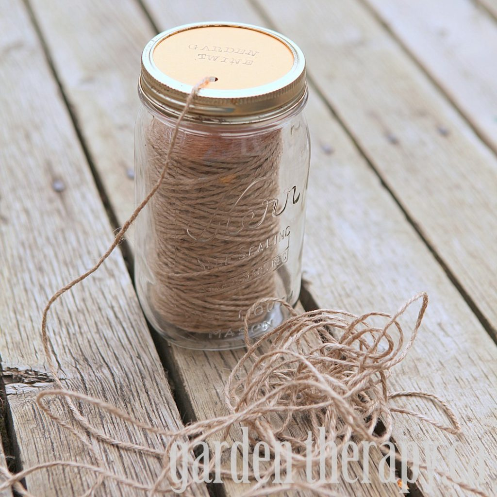 DIY Mason Jar Garden Twine Dispenser