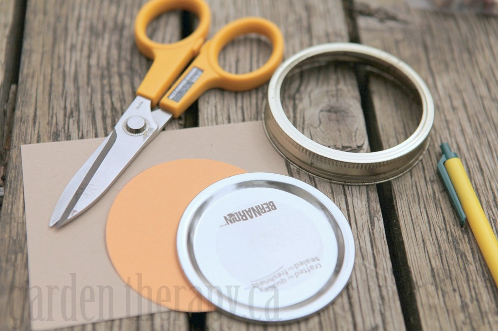 DIY Mason Jar card stock lid