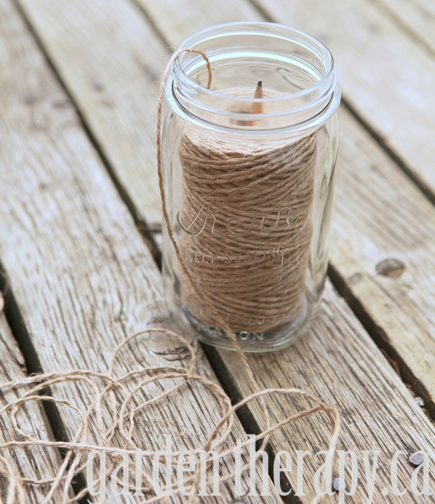 How to Make a DIY Garden Twine Dispenser