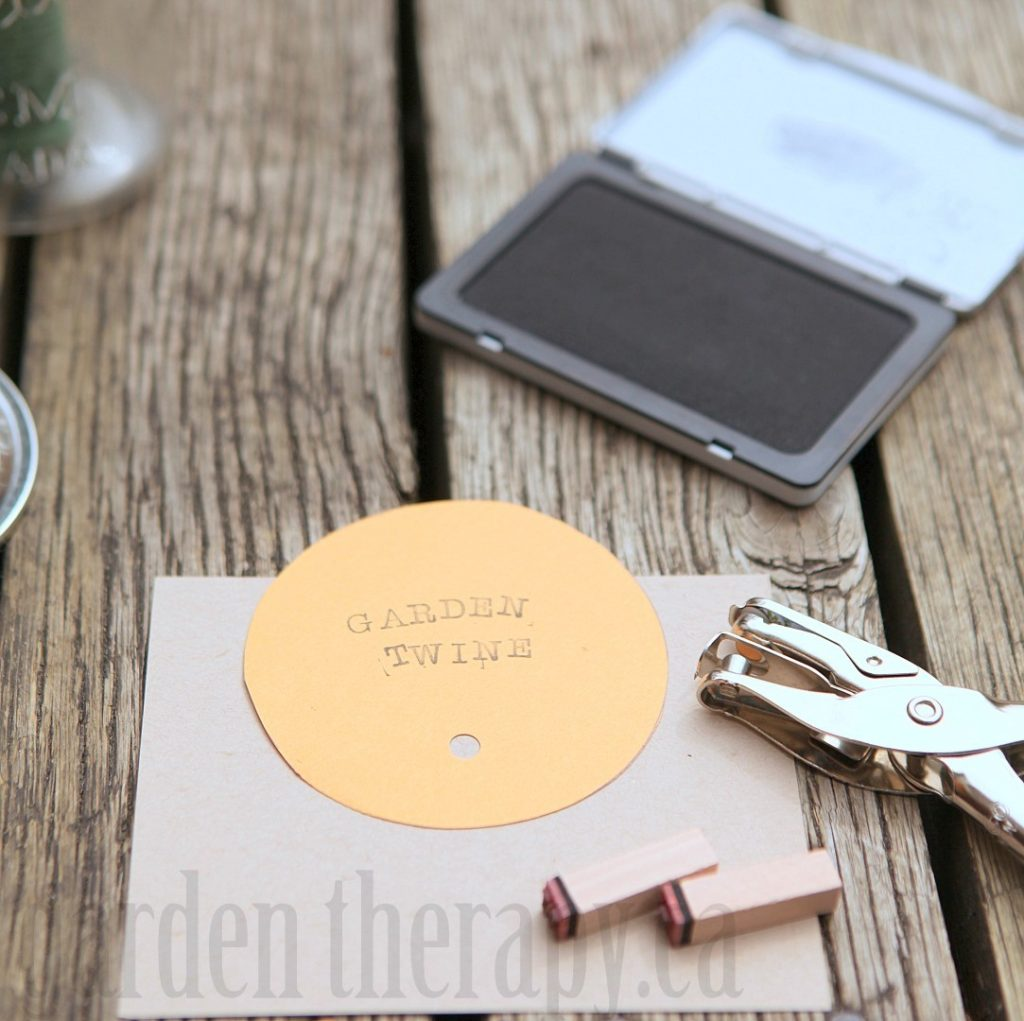 Stamping Mason Jar Lid to customize label