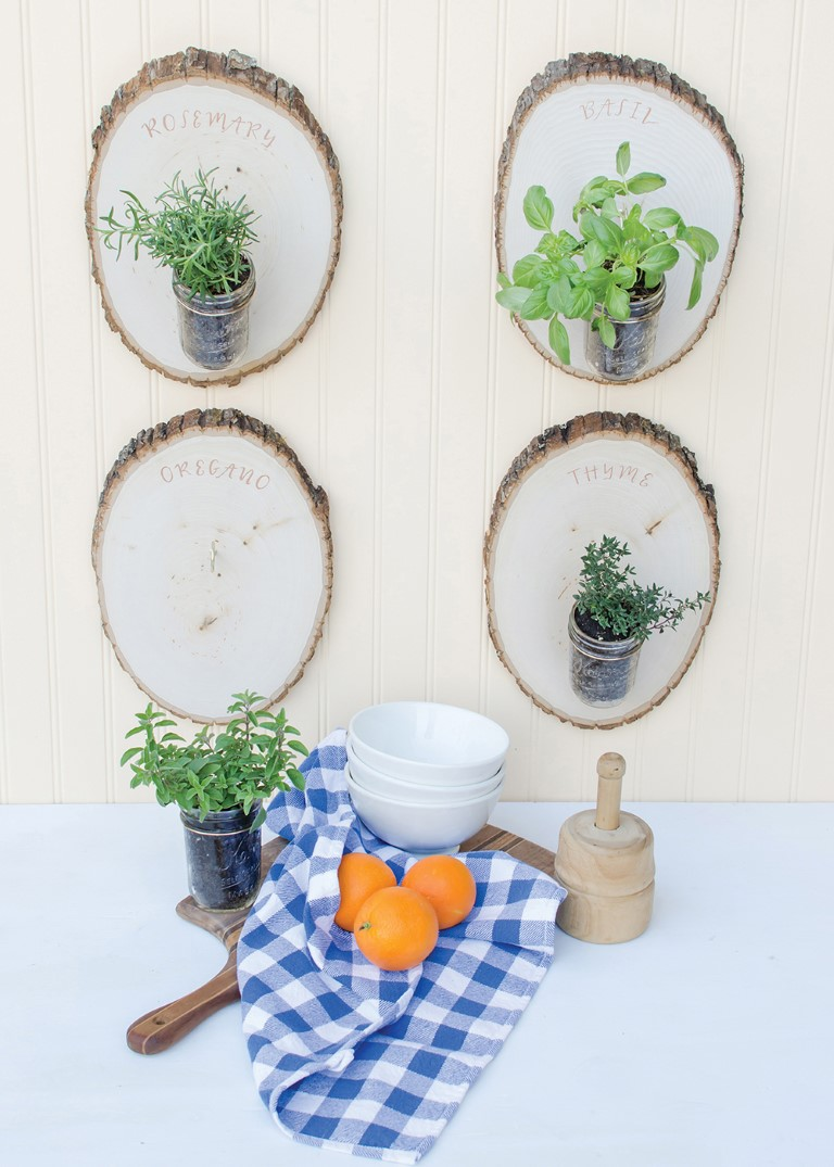 Make a woodland herb garden with upcycled materials