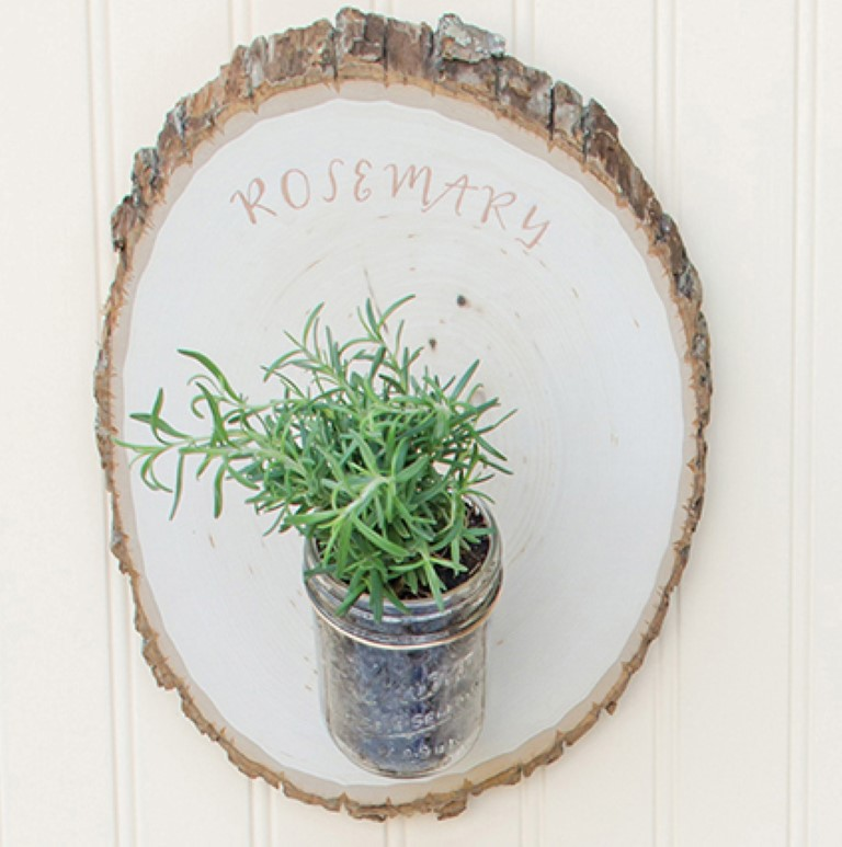 Woodland Herb Garden DIY Project from Mason Jar Crafts Rosemary