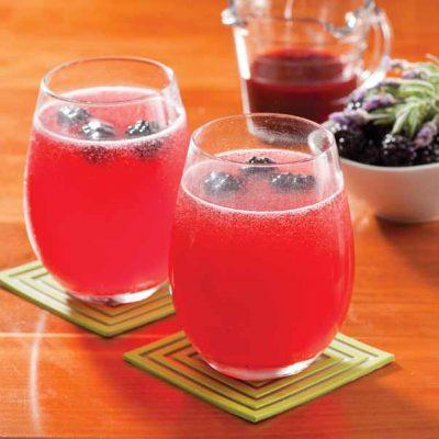 Blackberry-Lavender Soda