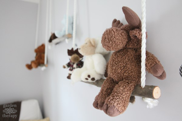 Branch Swing Shelves for Adorable Stuffies