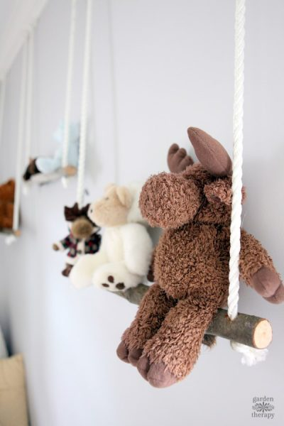Branch Swing Shelves for Displaying Stuffies