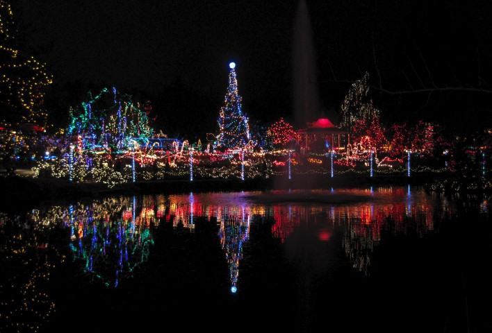 Grand Scale Holiday Lights At VanDusen Garden