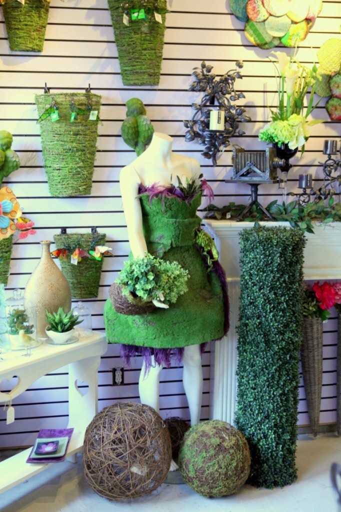 Moss Dress and Planters