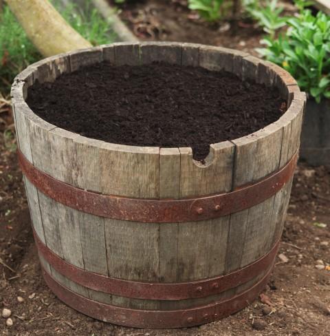 Preparing a Wine Barrel Planter