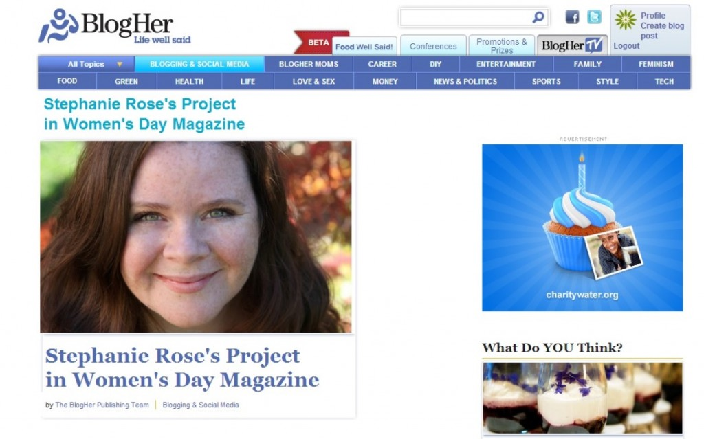 Stephanie Rose Featured in Women's Day