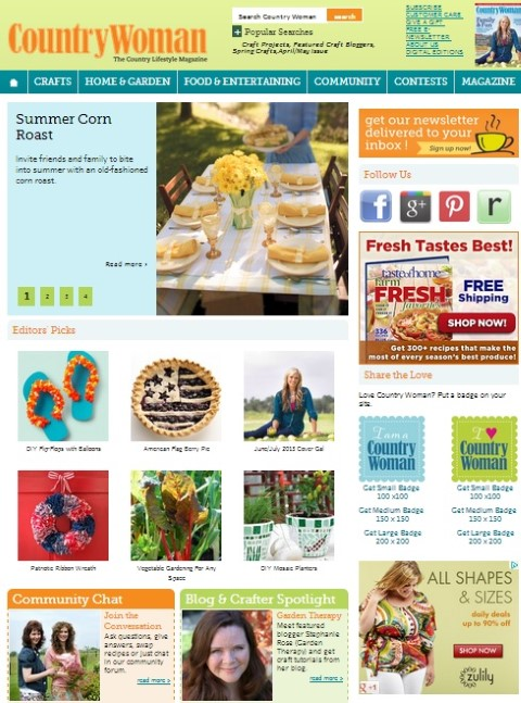 Stephanie from Garden Therapy Blog Spotlight in Country Woman Magazine (Small)
