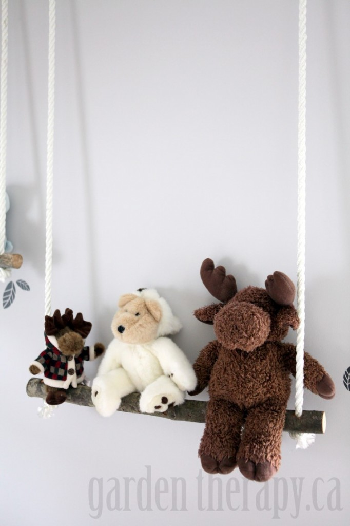 Stuffed Animal Shelves for Nursery