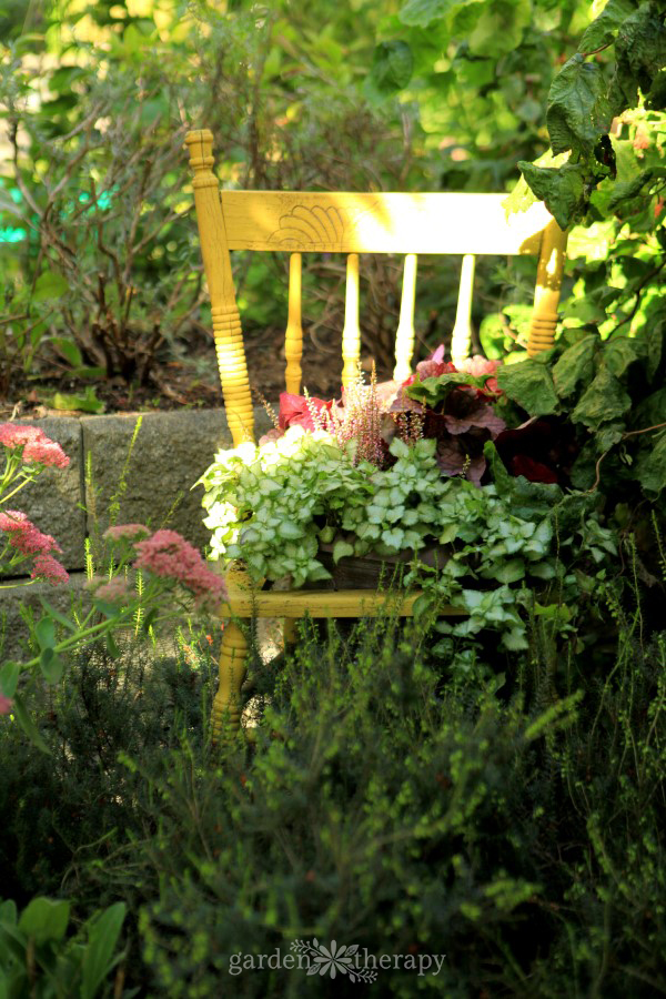 How to Upcycle a Chair into a Planter