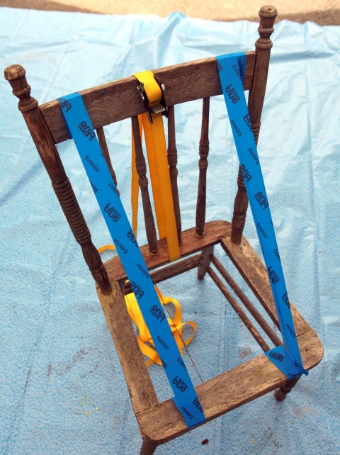 Clamping Chair while glue dries