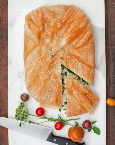 Fennel, Chard and Goat Cheese Pie