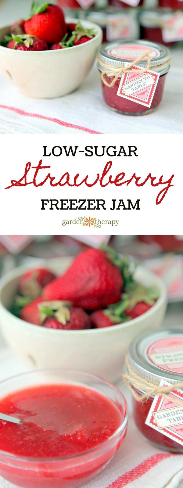 Low-Sugar Strawberry Freezer Jam