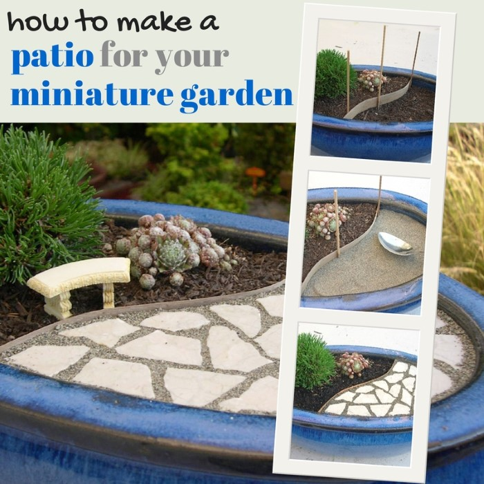 Create your very own miniature garden patio for Design your own garden