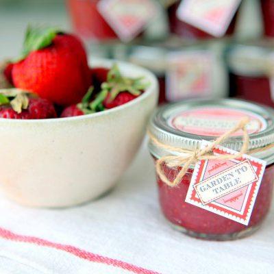 Homemade Low-Sugar Strawberry Freezer Jam