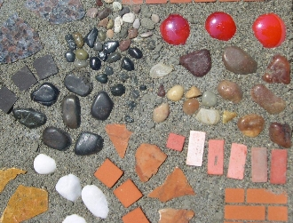 Materials to make a mini garden patio