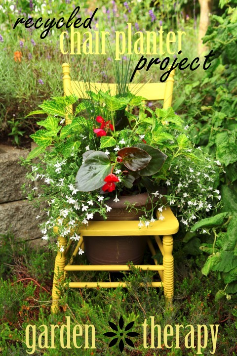 Recycled Chair Planter Project Garden Therapy