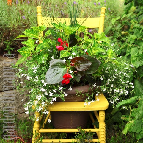 Recycled Chair Planter Project