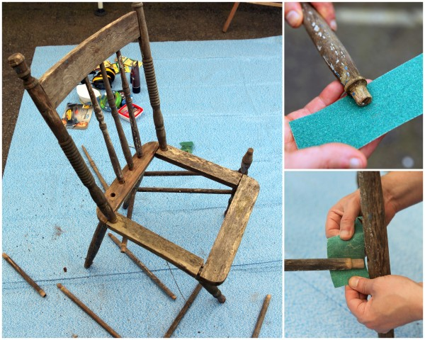 Repairing an old wood chair