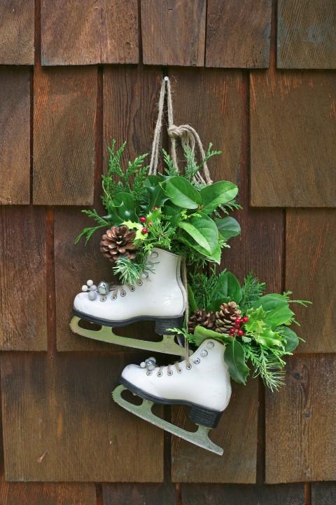 Vintage Skates as Festive Decor