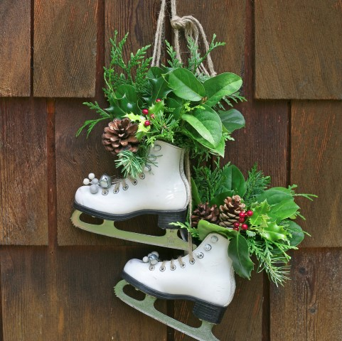 Vintage Skates As Festive Holiday Decor Small