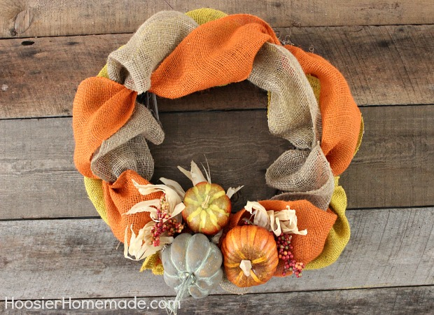Burlap wreath for fall