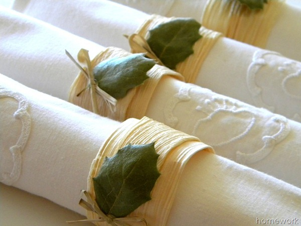 Corn husk Napkin Rings