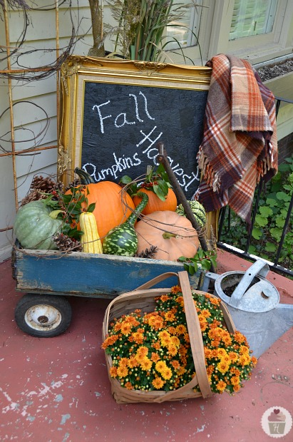 Front Porch Decorating for Fall