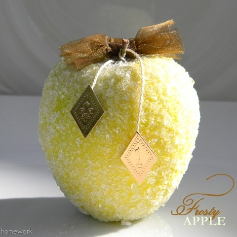 Frosted Apple Craft