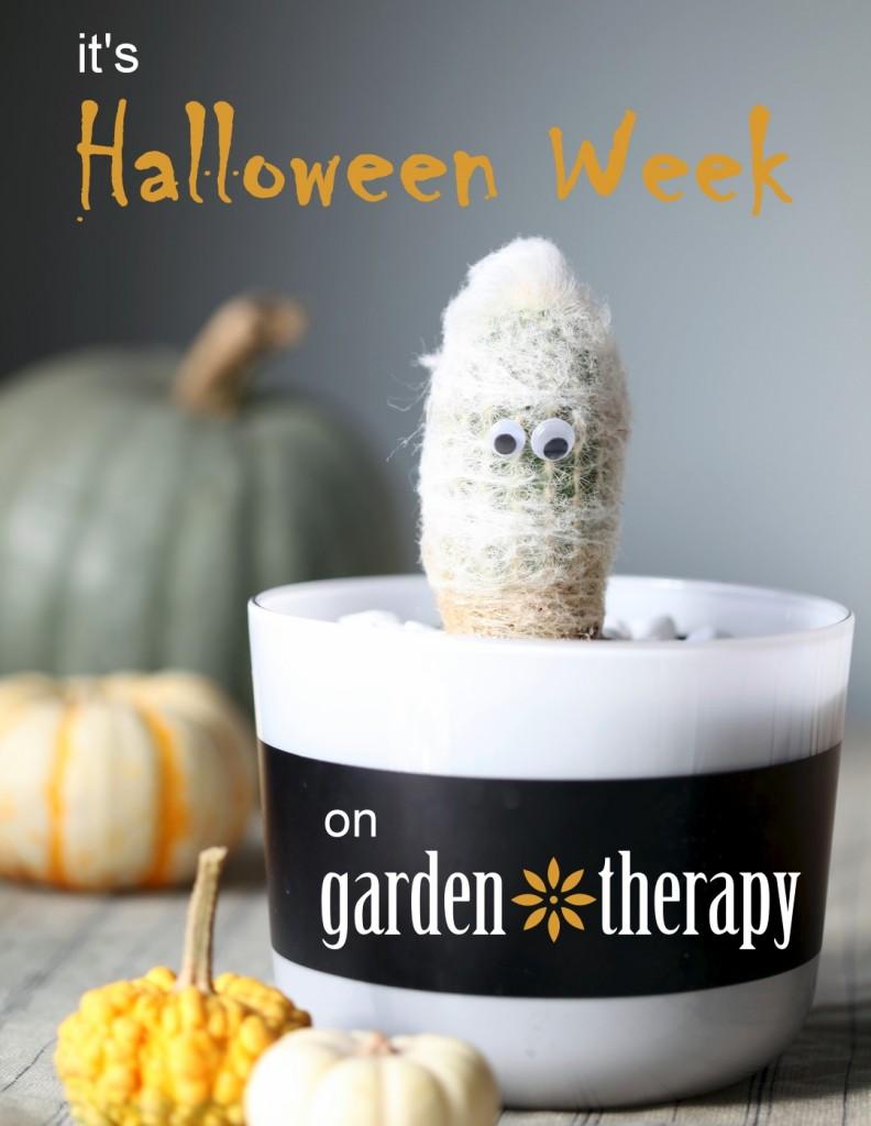 halloween week on garden therapy
