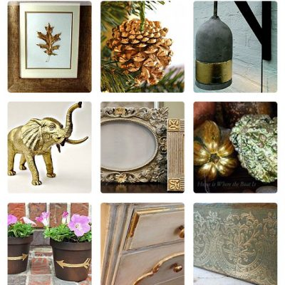 20 Ideas for Decorating with Gold Leaf