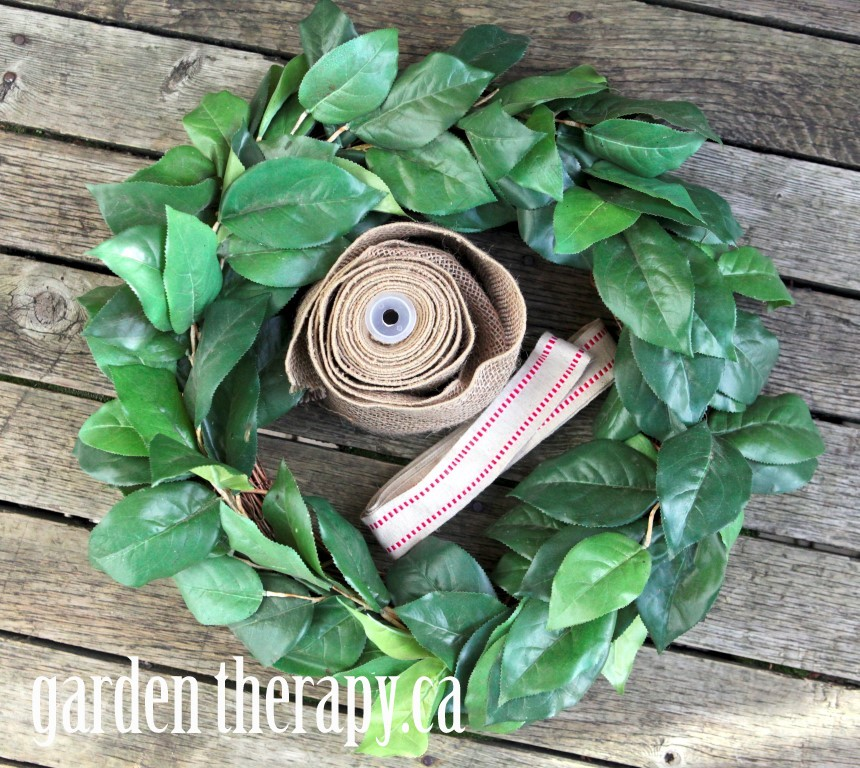 Burlap Ribbon Wreath Making