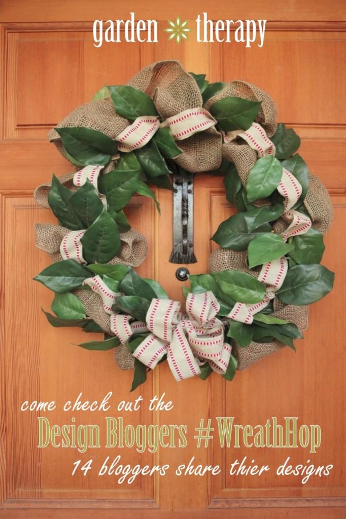 DIY burlap ribbon wreath #wreathhop