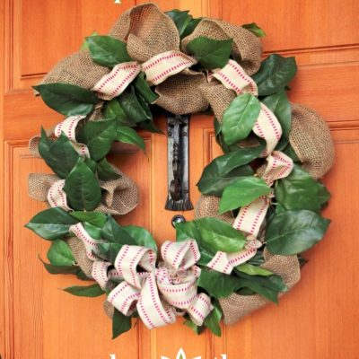 Burlap Ribbon Wreath – It's a #WreathHop!