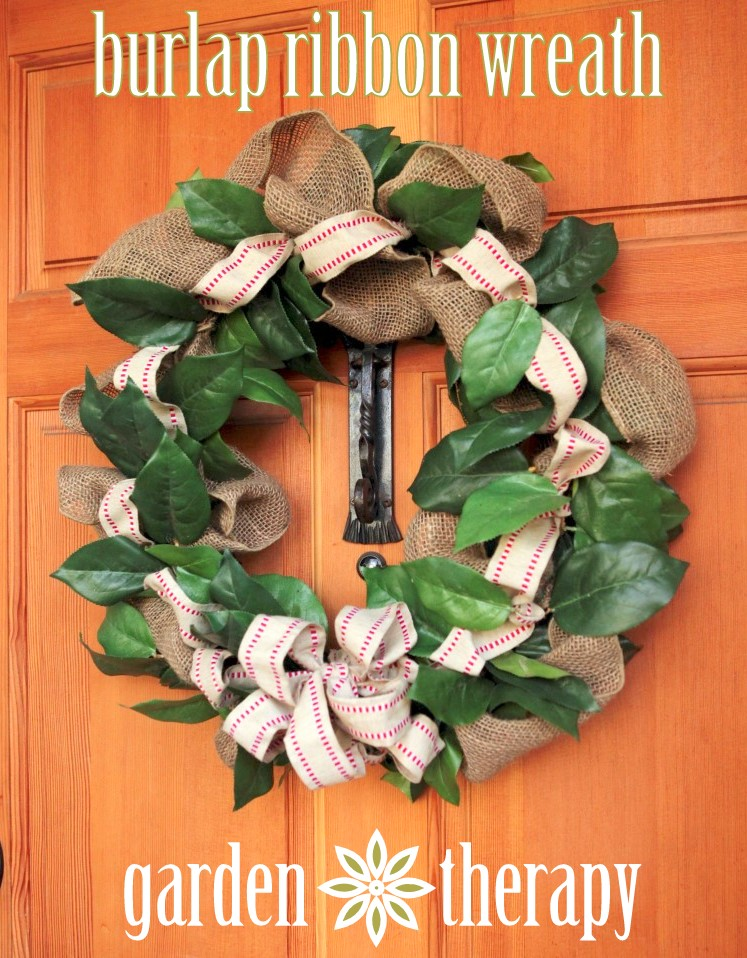 How to Make a Burlap Ribbon Wreath