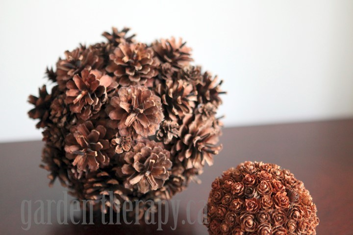 Large Orb made from found Pinecones