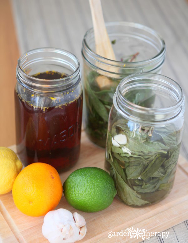 Making Herb Vinegar