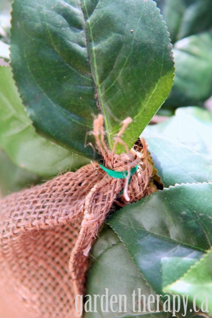 Tying Ribbon on wreath